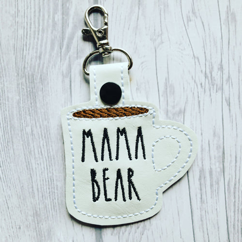 Coffee Mug - Rae Dunn inspired - Keychain - Embroidered