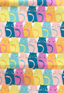 Face Mask - Cats - Colourful