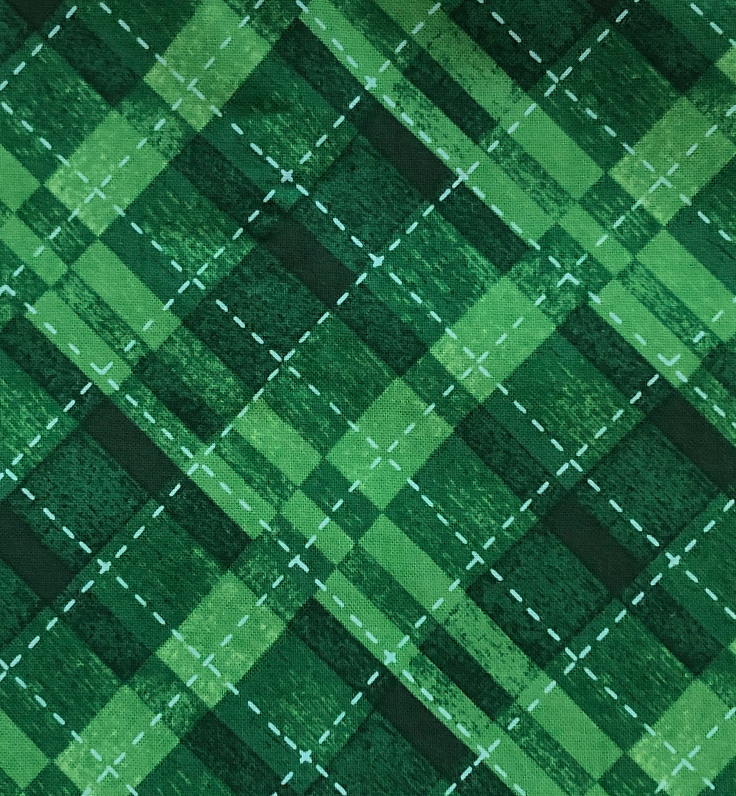 Face Mask - Christmas - Green Plaid