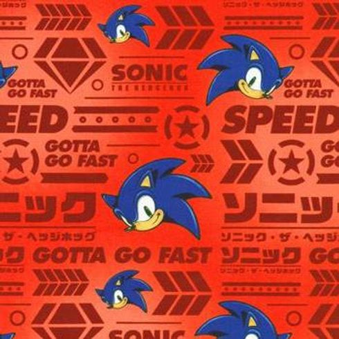 Face Mask - Sonic the Hedgehog - Red BG