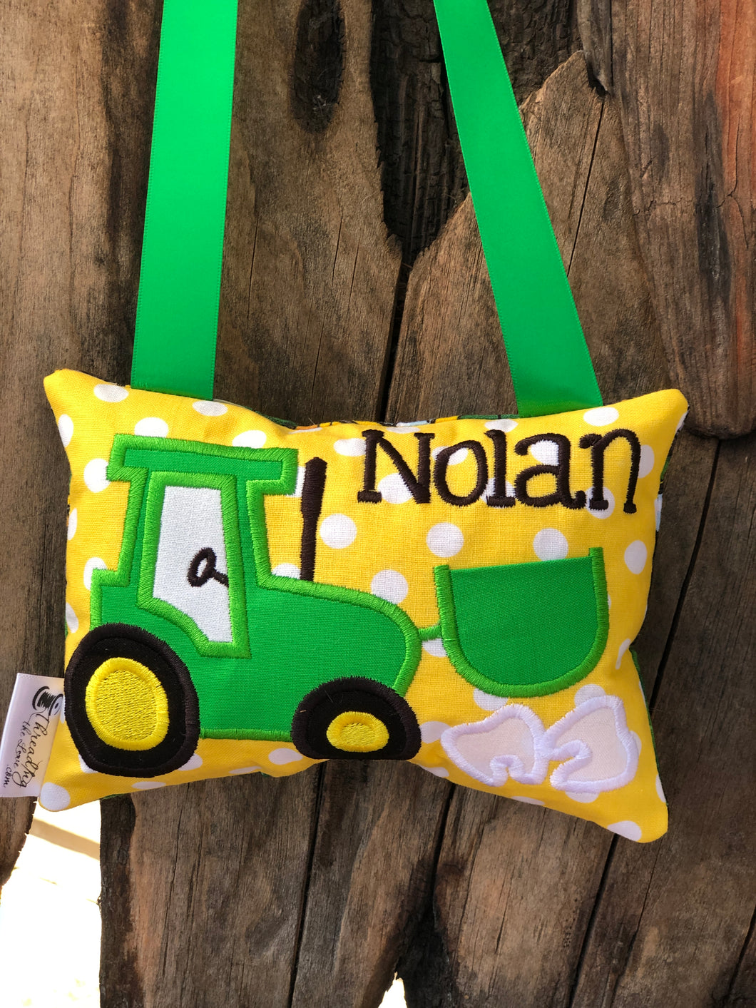 Tractor Tooth Fairy Pillow - Personalized