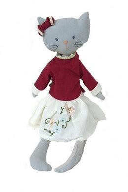 Personalized Doll - Cat with Embroidered Skirt