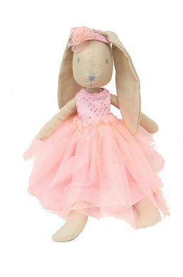 Personalized Doll - Bunny - Pink Tulle Dress