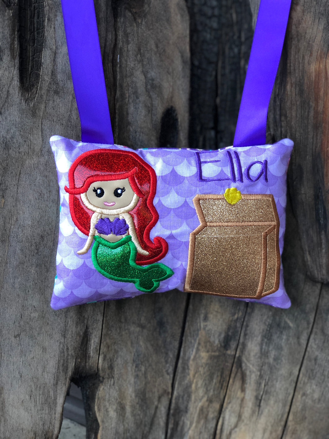 Mermaid Tooth Fairy Pillow - Personalized