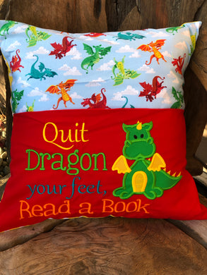 Dragon Reading Pillow - with pillow insert