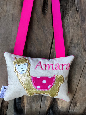 Llama Tooth Fairy Pillow - Personalized