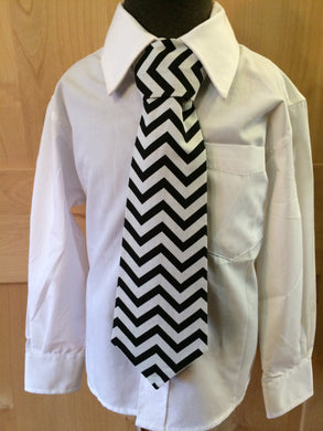 Tie - Chevron Black and White