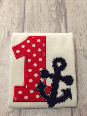 Anchor Birthday Shirt