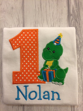 Dinosaur Birthday Shirt - Party Hat