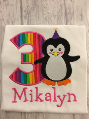Animal Birthday Shirt - Penguin
