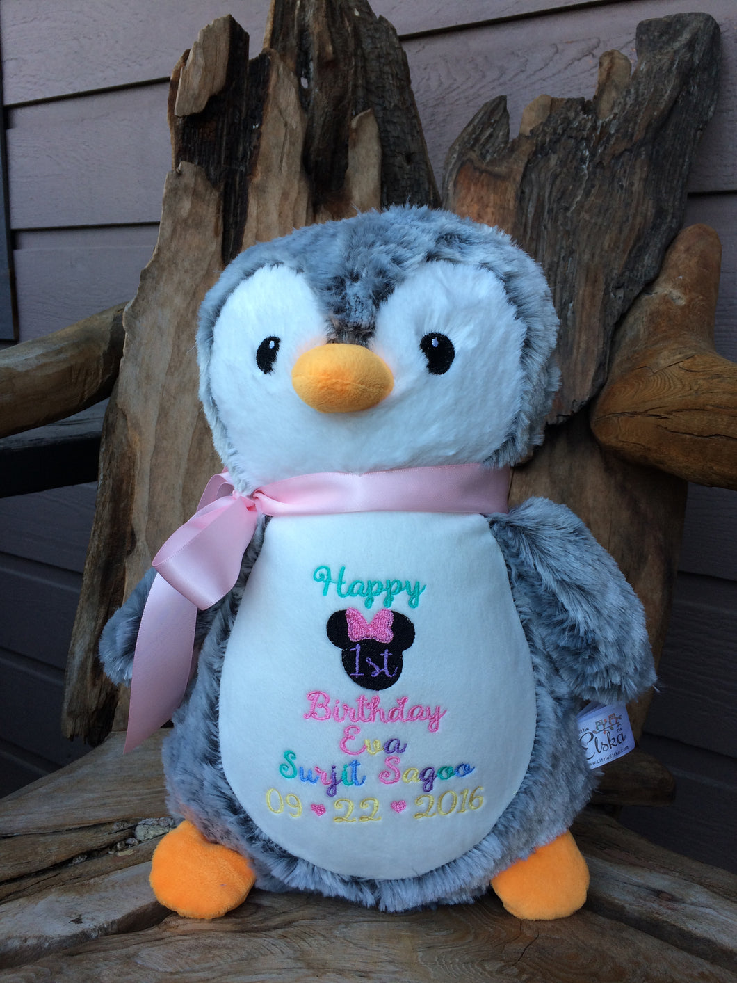 Personalized Penguin Stuffed Animal Threading The Love