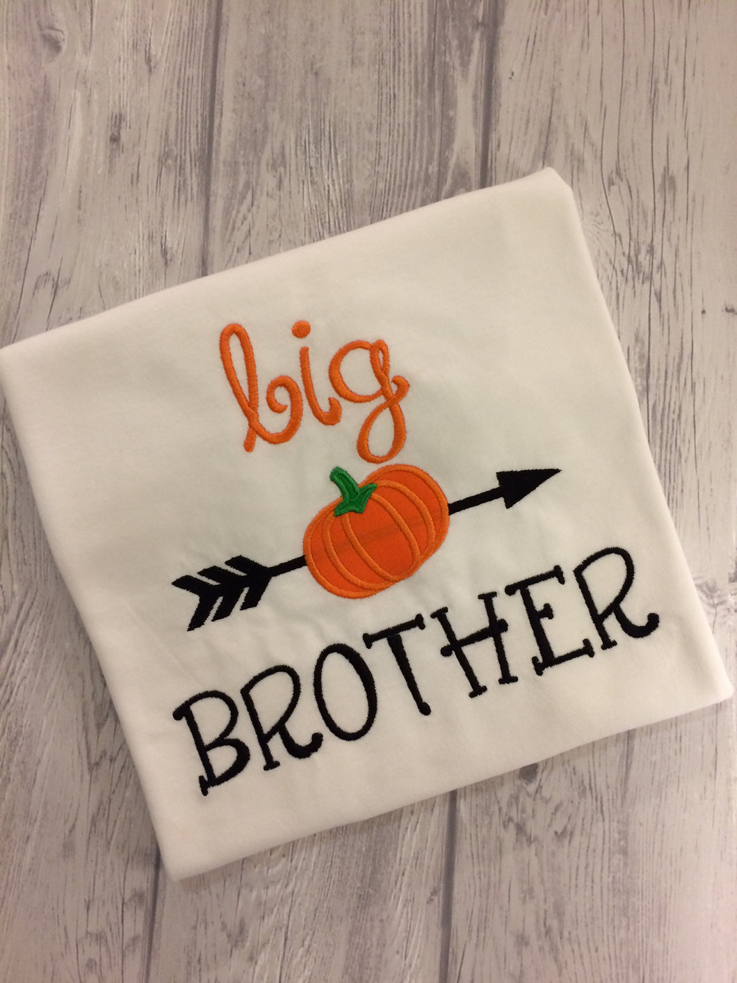 Big Brother Shirt - Pumpkin