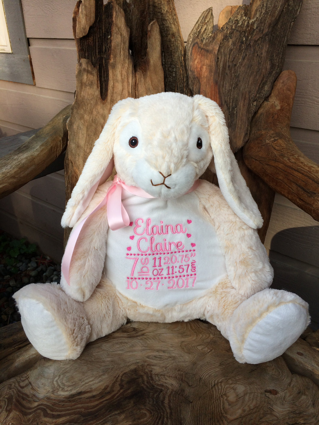 Personalized Bunny Stuffed Animal Threading The Love