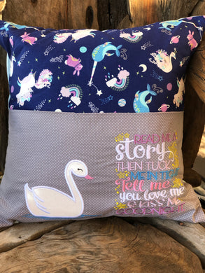 Swan Reading Pillow - with pillow insert