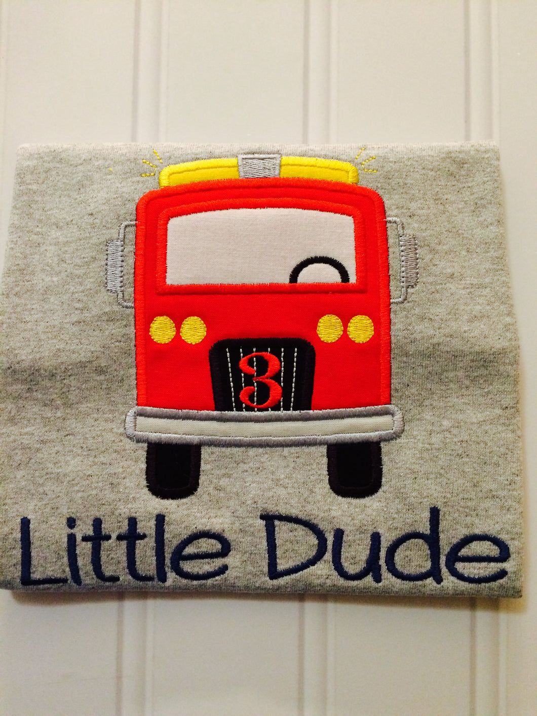 Transportation Birthday Shirt - Fire Truck
