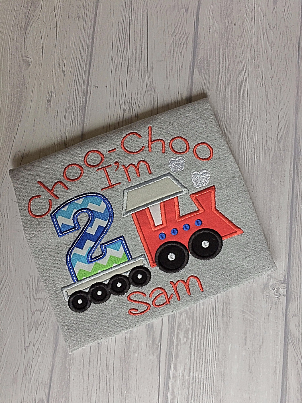 Transportation Birthday Shirt - Train - Choo Choo I'm 2