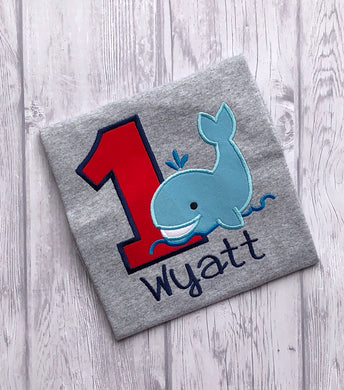 Animal Birthday Shirt - whale