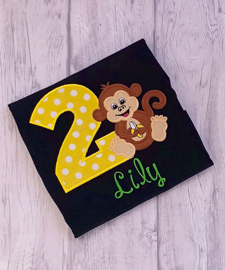 Animal Birthday Shirt - Monkey