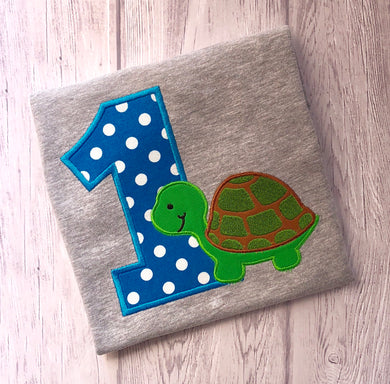 Animal Birthday Shirt - Turtle