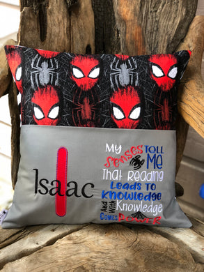 Spiderman Reading Pillow - with pillow insert
