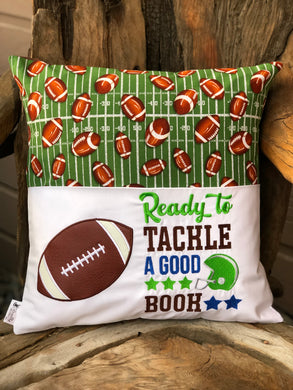 Football Reading Pillow - with pillow insert