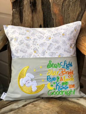 Bunny Reading Pillow - Gender Neutral - with pillow insert