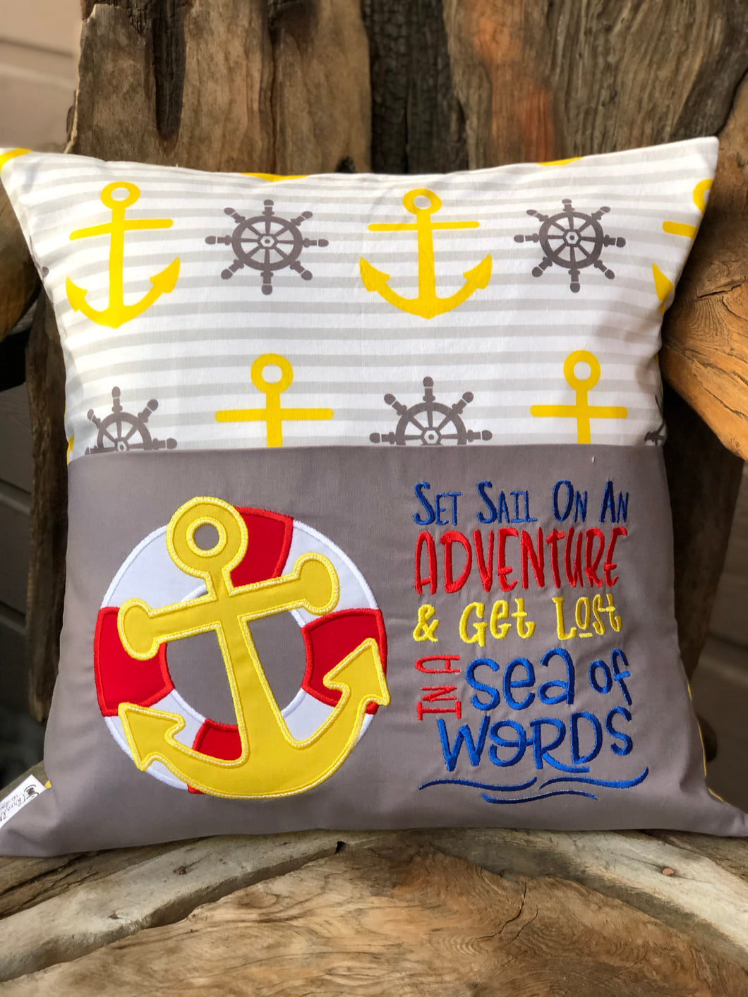Sailor Reading Pillow - with pillow insert