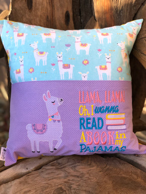 Llama Reading Pillow - with pillow insert