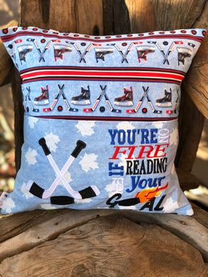 Hockey Reading Pillow - with pillow insert
