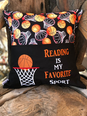 Basketball Reading Pillow - with pillow insert