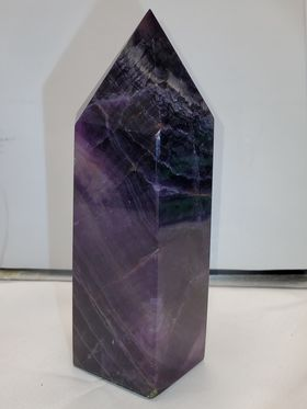 Purple Fluorite Tower 6""