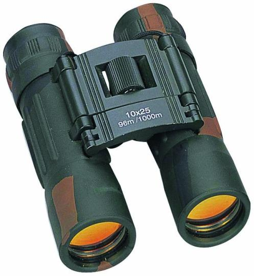 10X Power Pocket Binoculars with 25mm Ruby Coated Lens - Camo