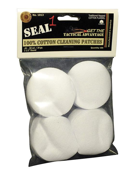 "SEAL 1 2.5"" Cotton Cleaning Patch 100 Pack"