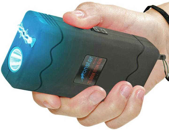 SG-M25000BK Monster 25M volt Stun Gun with LED Black