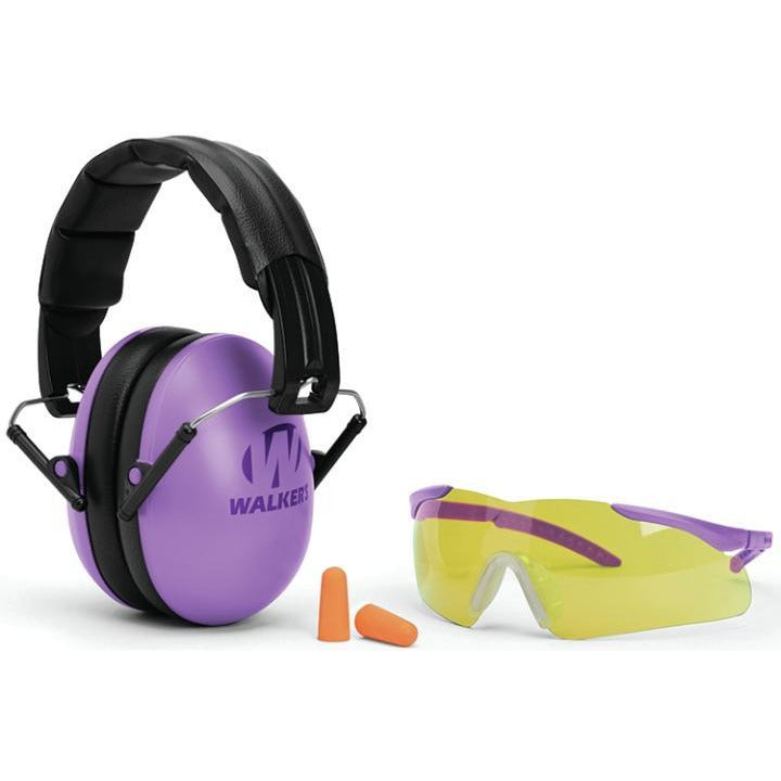 Walkers GWP-YWFM2GFP-PUR Womens Combo Purple Muff & Eyewear