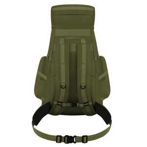 B110-OL Camping Hiking Backpack Olive Green