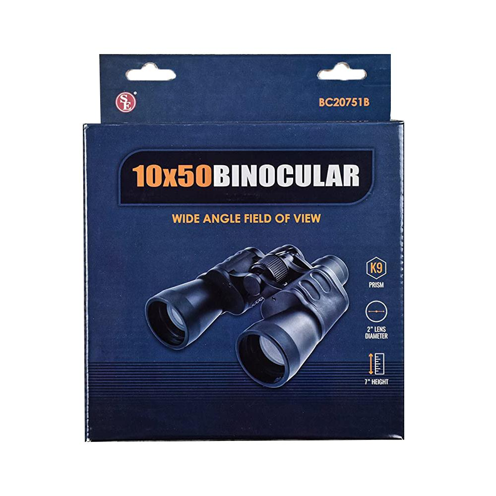 Wide Angle Binoculars 10 x 50 with K9 Prism Lenses