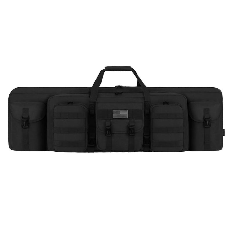 RTG604L Tactical 42 inch Padded Dual Rifle Multi-Pocket Bag Black
