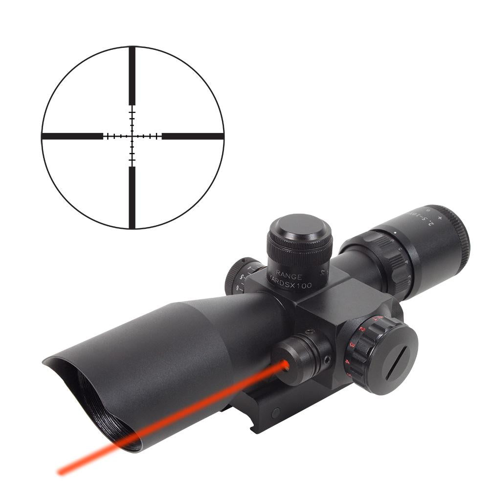 Firefield 2.5-10 x 40 Mil-Dot Rifle scope with Red Laser