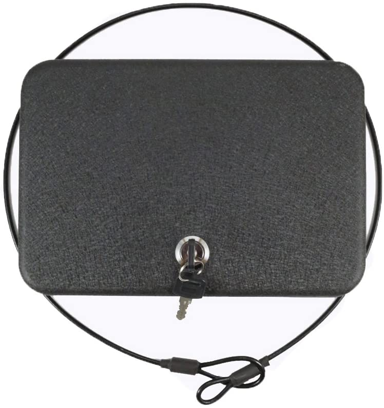 Locking Metal Security Case with Steel Tether for Handgun or Valuables