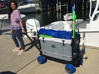 The Original Cooler Caddy & Fishing Cart with Blue, Black or Yellow Wheels