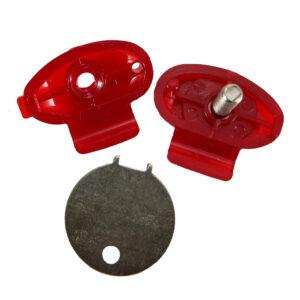 Temp Gunlock- Red Plastic - Master Packed 100 pcs
