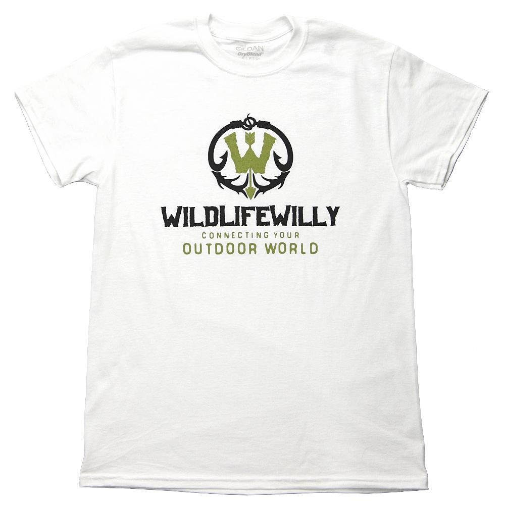 WWWBK-M WW T-Shirt White Black Logo-MED