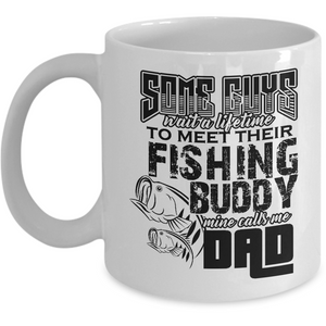 Fishing Buddy w/Dad Coffee Mug