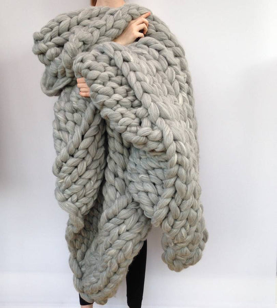 Superior Chunky Knitted Blanket - 50% OFF