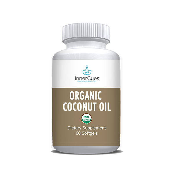 InnerCues Organic Coconut Oil - 60 Soft Gels