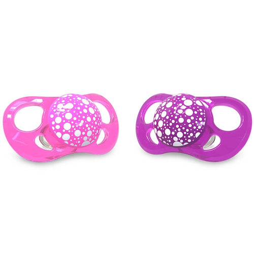 Pacifier Small 2+ months (2 pack) - Pink