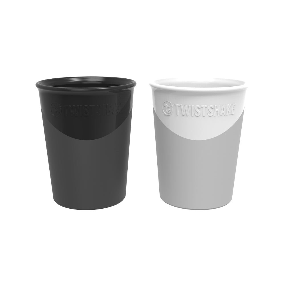2x Cup 170ml (6+M) - Black/White