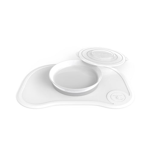Click-Mat + Plate - White