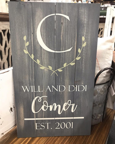 Personalized Sign Class